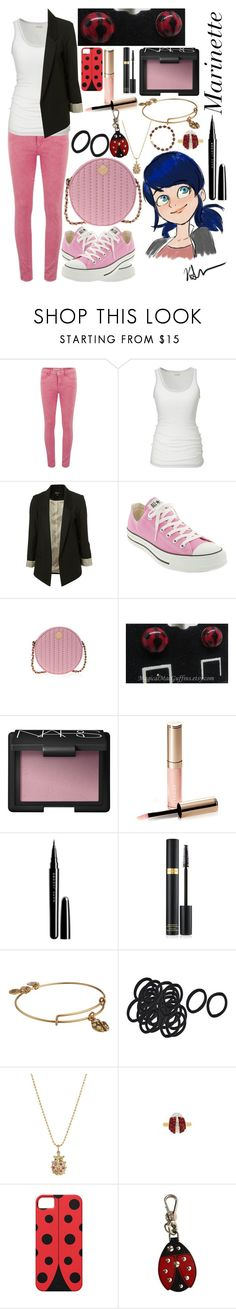 """Marinette Dupain-Cheng: Miraculous Ladybug"" by ender-chic52 ❤ liked on Polyvore featuring ONLY, Lee, Converse, Henri Bendel, NARS Cosmetics, By Terry, Marc Jacobs, Tom Ford, Alex and Ani and Sydney Evan"
