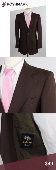 premium selection c2963 2b509 Vintage 70s Andhurst 40R Brown 2B Sport Coat 0003