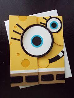 Stampin Up Thinlits Circle card - Sponge Bob