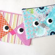 Owl Pencil Case Zipper Pouch - via @Craftsy