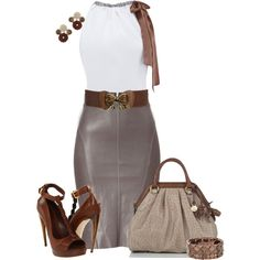 A fashion look from June 2012 featuring Jitrois skirts, Alexander McQueen sandals y Brahmin handbags. Browse and shop related looks.