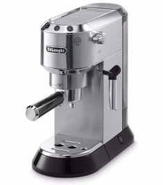 The Delonghi serves up 1 or 2 shots of the finest espresso you can imagine. Check out the Delonghi Dedica espresso machine at in Coffee! Cappuccino Maker, Cappuccino Coffee, Espresso Maker, Coffee Maker, Espresso Latte, Decaf Coffee, Hot Coffee, Coffee Type, Coffee Pods