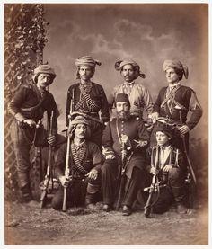 Bashi-bazouks  [soldados irregulares] georgianos, Cáucaso  Abdullah Frères    © Colección Clark & Joan Worswick
