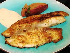Simple Ranchy Breaded Fish Fillets. I've got some pollock fillets in the freezer just waiting for this recipe!!