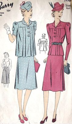 In lieu of dresses, separates started coming into play. Pleated trapeze tops could be cinched in during early months and worn loose once she starts to show.
