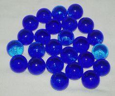 Large Marbles Glass Translucent Dark Blue 25 by WMCraftSupplies