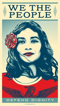 A poster from the We the People series by Shepard Fairey. Courtesy Obey Giant