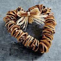 Dried citrus heart for Christmas decoration.