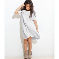 Girl's Cotton Broderie Anglaise Dress White
