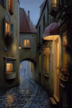 A Little Story. Scenes of Realistic Night Time Paintings. See more art and information about Evgeny Lushpin, Press the Image. Fantasy Places, Fantasy Art, Zaha Hadid Architecture, Indian Architecture, Time Painting, Night Time, Concept Art, Beautiful Places, Beautiful Pictures
