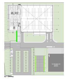 Indústria NGC do Brasil,Planta - 1º Pavimento Warehouse Floor Plan, Warehouse Layout, Warehouse Design, Warehouse Management System, Industrial Architecture, Factory Design, Landscape Plans, Layout Design, Design Ideas
