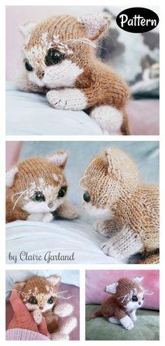 Itty Bitty Kitty Cat Amigurumi Knitting Pattern