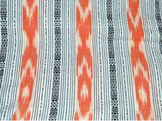 1.5 yard Ikat cotton Striped Pattern by Indianlacesandfabric