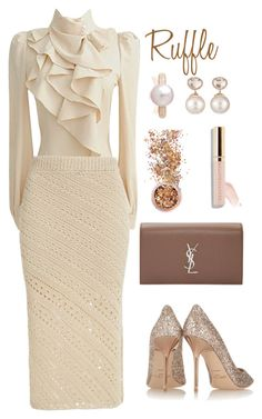 Designer Clothes, Shoes & Bags for Women Executive Style, Executive Fashion, Church Outfits, Office Outfits, Work Looks, Complete Outfits, Royal Fashion, Classic White, Ball Dresses