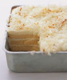Toasted-Coconut Refrigerator Cake - No one will ever guess that store-bought pound cakes are at the heart of this dessert,, Fast and easy to prepare. Tested on family, today, with not a bite left,,