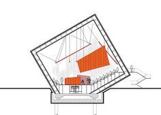 Auditorium del Parco by Renzo Piano Acoustic Architecture, Auditorium Architecture, Auditorium Design, A As Architecture, Architecture Drawings, Renzo Piano, Deconstructivism, Concept Diagram, Cool Office