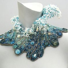 By @annbraginsky  #embroidery #fashion #fancywork #jewellery #jewellerydesign #jewelry #art #embellishment #beadsembroidery #beads #beadembroidery #broderieart by _embroidery_