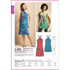 Kwik Sew Pattern Dress and Tunic, (XS, S, M, L, XL)