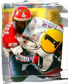 Kenny Roberts - British GP 1981 Motorcycle Types, Motorcycle Racers, Motorcycle Outfit, Racing Motorcycles, Classic Motors, Road Racing, Motogp, Grand Prix, Strada