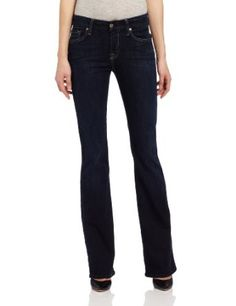 7 For All Mankind Women's Midrise Kimmie Boot Cut  Price:	$189.00 0% Cotton/6% Ployester/4% Spandex Machine Wash Features a contoured waistband Zip fly Midrise 10.25 pounds denim