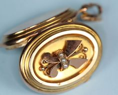 Victorian 14K Photo Locket Yellow Gold/Rose Gold Seed Pearls