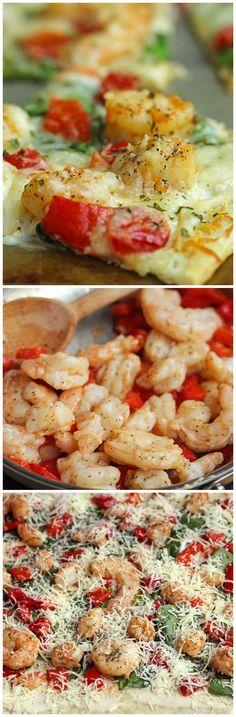 Pizza Night Done Right: Easy Garlic Shrimp Alfredo Pizza!