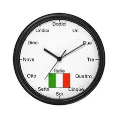 Italian Language Wall Clock - shouldn't un be uno