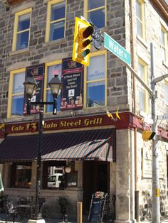 Cafe on the corner of Water St and Main St in downtown Galt. City Of Cambridge, Cambridge Ontario, Galt Ontario, Places To Eat, Serenity, Cities, Restaurants, Nostalgia, Corner
