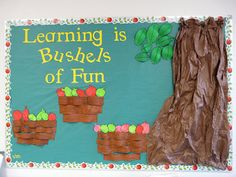 pinterest school bulletin board ideas | Apple & Football Bulletin Board Ideas