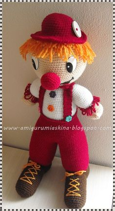 Amigurumi Askina Yilbasi Bebegi : Pin by Tatyana Borisova on Clown Pinterest Amigurumi