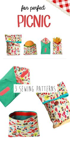 PDF Lunch bag pattern - reusable Lunch bag, Sandwich wrap and Snack pack. $7.99, via Etsy.