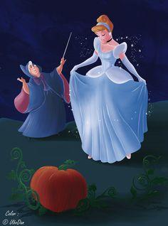 Cinderella - Coloring Page by ubodan.deviantart.com on @deviantART