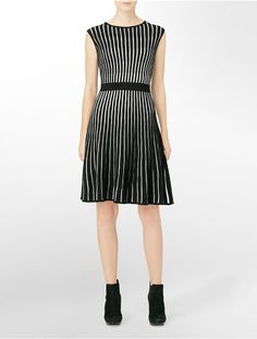 sleeveless striped sweater dress | Calvin Klein