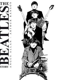 Poster Dos Beatles, Les Beatles, Beatles Art, Beatles Books, Beatles Tattoos, The Beatles Story, Japon Illustration, Rock And Roll Bands, The Fab Four