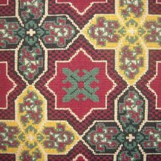 Clarence House Gothic Moroccan Ecclesiastical Tile Pattern Epingle Carpet Weight Upholstery Fabric