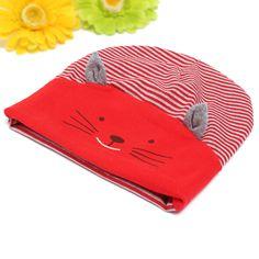 Sale 10% (5.2$) - Baby Girl Boys Cute Animal Cat Soft Cotton Baggy Stripe Hat Cap