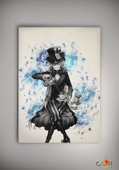 Black Butler Kuroshitsuji Undertaker Watercolor Print 8x11 11x16  Print - Art Print  Wall Decor Art Poster Anime Print Manga Cartoon A3 on Etsy, 62,50 zł