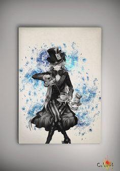Black Butler Kuroshitsuji Undertaker Watercolor Print 8x11 11x16  Print - Art Print  Wall Decor Art Poster Anime Print Manga Cartoon A3 on Etsy, 62,50zł