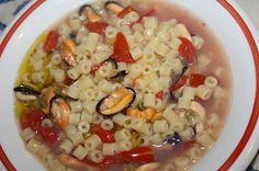 minstra di cozze / mussels soup