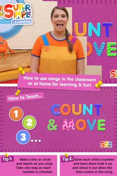 Caitie demonstrates the gestures and shares some activity ideas for our version of this popular kids song. Preschool Songs, Kindergarten Activities, Toddler Preschool, Popular Kids Songs, Counting Songs, Early Math, English Language Learners, Math For Kids, Activity Ideas
