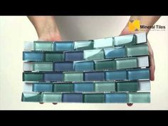 Glass Subway Mosaic Tile Turquoise Blend - 101CHIGLA12LTGR