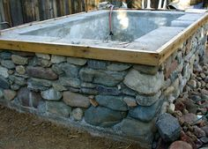 Alt. Build Blog: Concrete And Stone Hot Spring Pools I have plenty of stone. Not this big. We could do this!