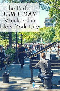 Three Days In New York City — What To See And Do As part of a new series, Travel + Leisure is exploring America one three-day weekend at a time. Here's how to pack in the best of New York's food and cultural attractions into a short trip. Weekend In Nyc, Weekend Trips, Weekend Getaways, Long Weekend, New York Vacation, New York City Travel, New York Trip, New York Essen, Weekender