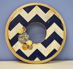Chevron Wreath for door--totally in love.