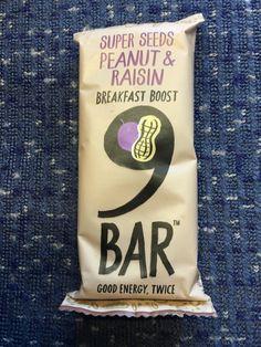 9Bar by Wholefood Bake Super Seeds Peanut and Raisin Breakfast Boost 9 Bar. British made.