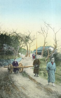 Snapshot of village life in Japan during the Hand-colored photo, photographer unknown. Image via National Museum of Denmark Photographs Of People, Vintage Photographs, Vintage Photos, Bonsai Art, Mount Fuji, Japan Photo, Orient, Japan Art, National Museum