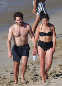 "gyllenhaaldaily: ""Jake Gyllenhaal and Greta Caruso spotted hanging out at a beach on January 1, 2017 in St. Barts. """