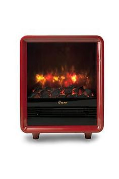 Crane Fireplace Heater Realistic Embers Electric Portable Red Mini Ceramic New