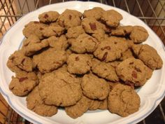 Homemade Dog Biscuits with Peanut Butter & Bacon Grease.. has whole wheat, flax, peanut butter, bran, etc