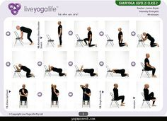 easy yoga poses for seniors  yoga with a chair level 2